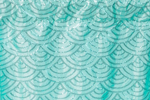 Mermaid Scale Sequin Backdrop Rental