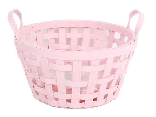 Pink Chipwood Basket Set of Two - Rental