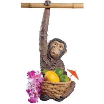 Hanging Monkey with basket Statue Rental