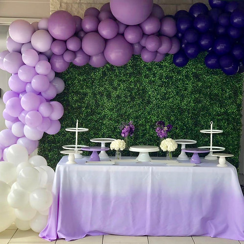 Lavender Ombre Tablecloth Rental