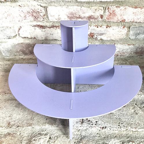 3 Tier Lavender Cupcake Stand Rental