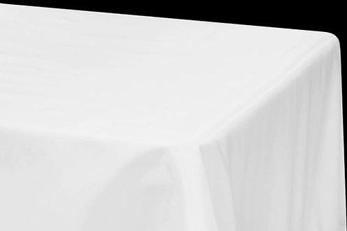 White Taffeta Tablecloth Rental