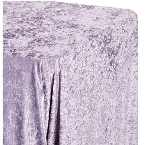 Lavender Velvet Rectangular Tablecloth - Rental