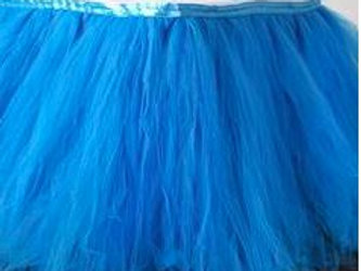 Blue Layer Tulle Tutu Table Skirt Rental