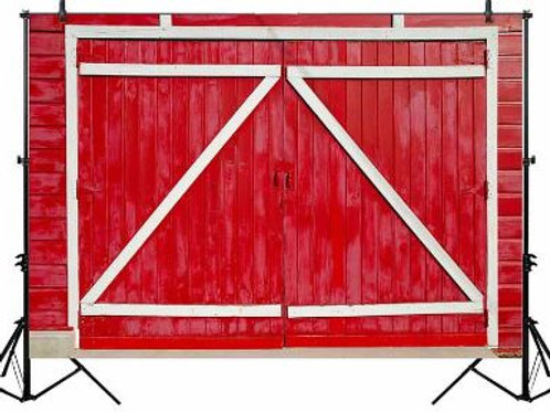 Red Barn Doors Backdrop Rental
