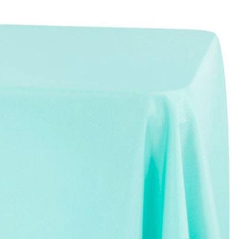 Turquoise Rectangular Oblong Tablecloth Rental