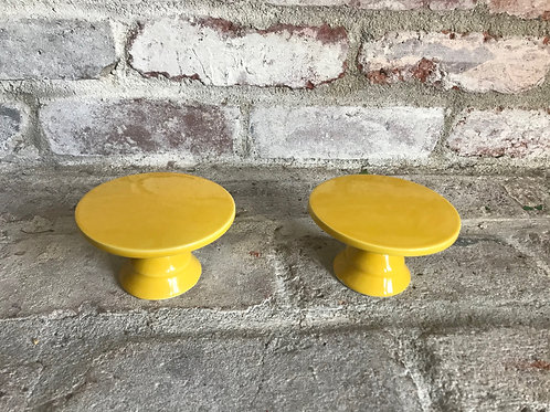 Yellow Glass Cupcake Stand Rental