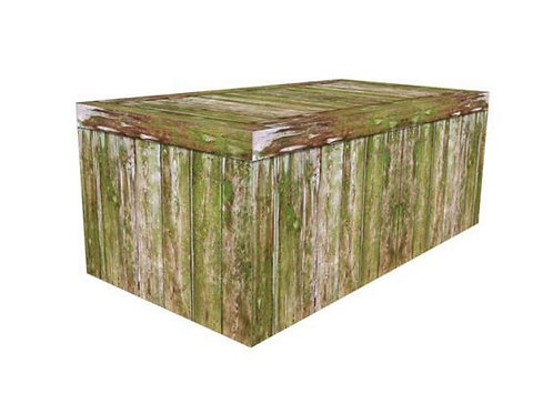 Moss Wood Table Cover Rental