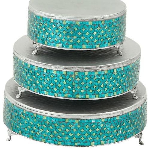 Metal Mosaic 3 Piece Cake Stand Set Rental