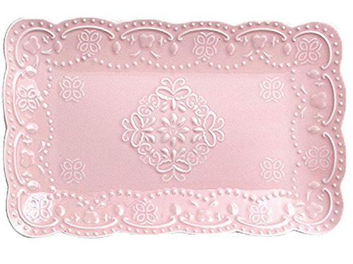Pink Lace Plate Rental