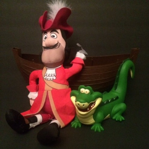 Captain Hook Plush, Tic Toc Croc and Boat Rental