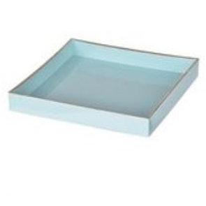 Blue & Gold Rim Tray Set - Rental