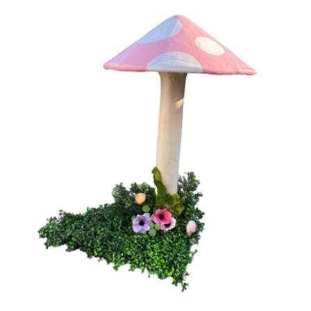 Large Pink Mushroom Rental