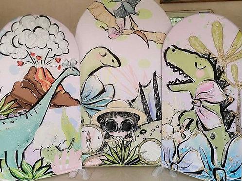 Dino Girl Backdrop Rental
