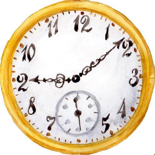 Vintage Clock Backdrop Rental