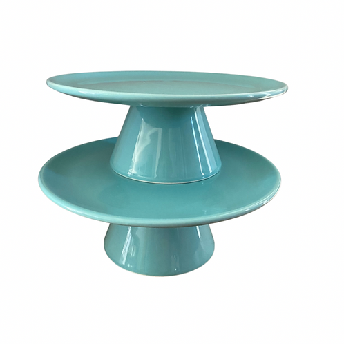 Blue Ceramic Cake Stand Rental