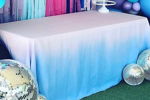 Pink and Blue Ombre Tablecloth Rental