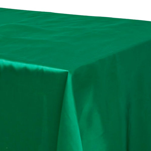 Emerald Green Satin Rectangular Tablecloth Rental