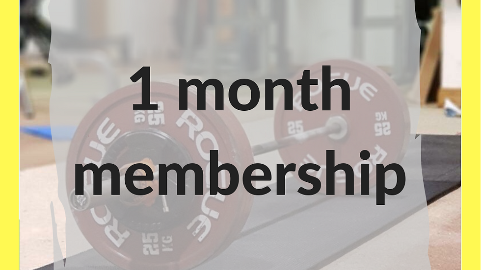 1 month membership