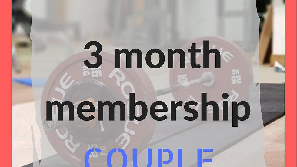 3 months couple membership