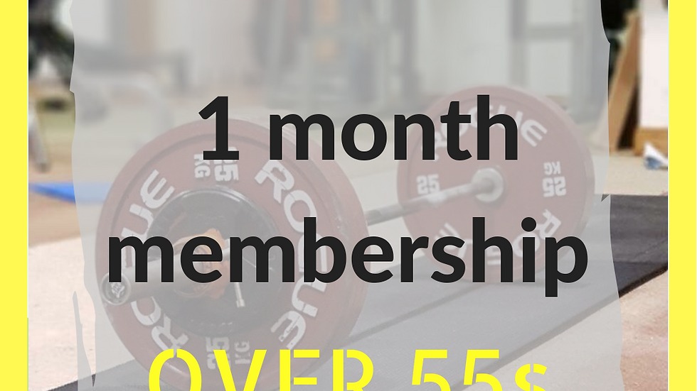 1 month over 55s membership