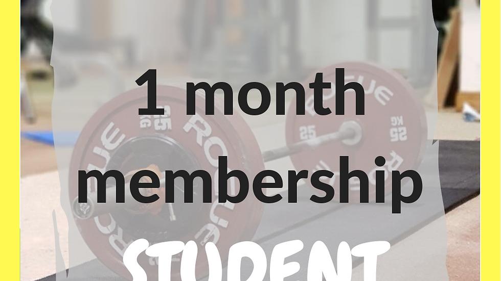 1 month student membership