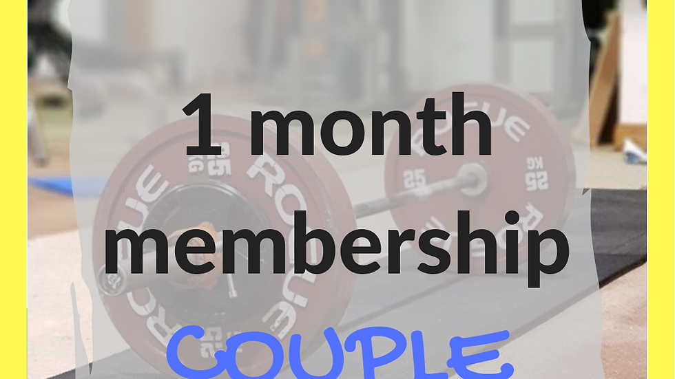 1 month couple membership