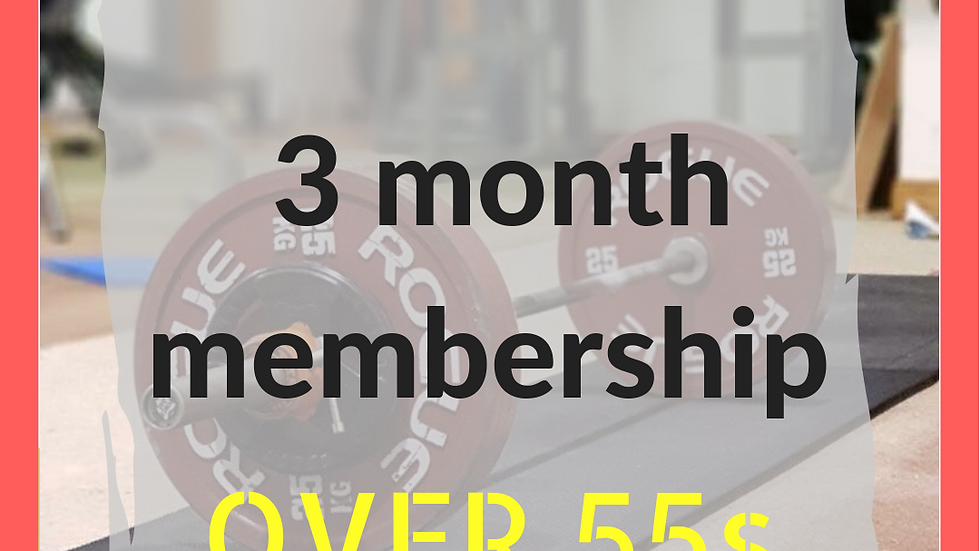 3 months over 55s membership