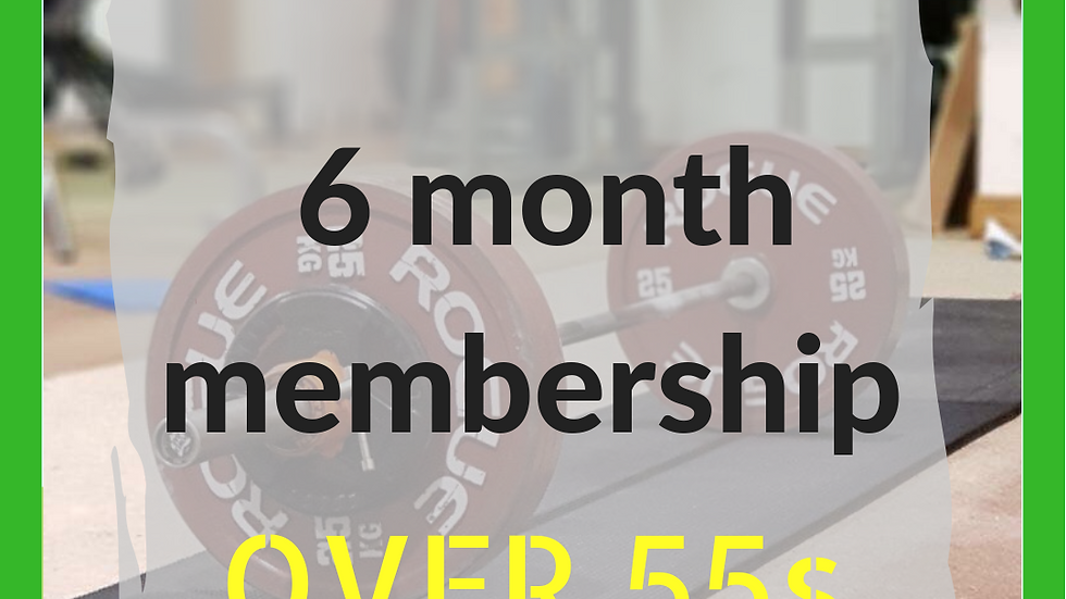 6 months over 55s membership