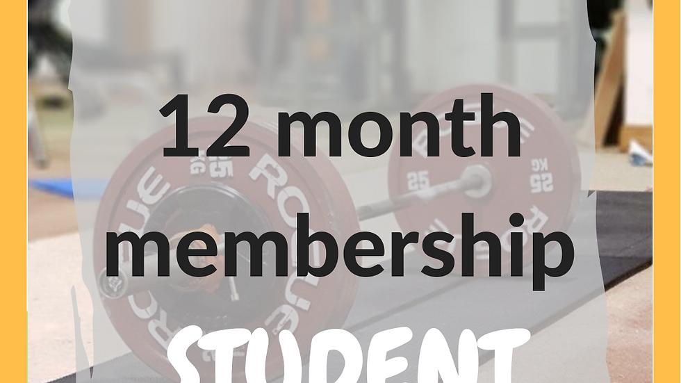 12 months student membership