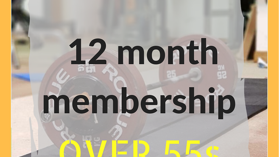 12 months over 55s membership