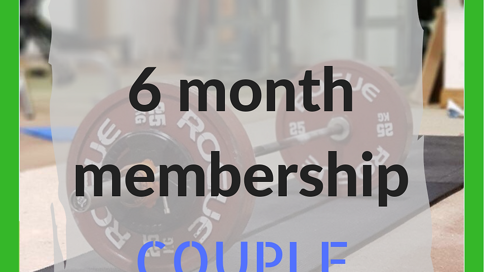 6 months couple membership