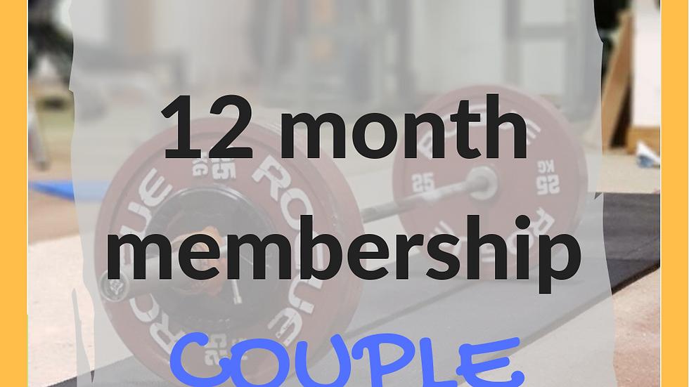 12 months couple membership