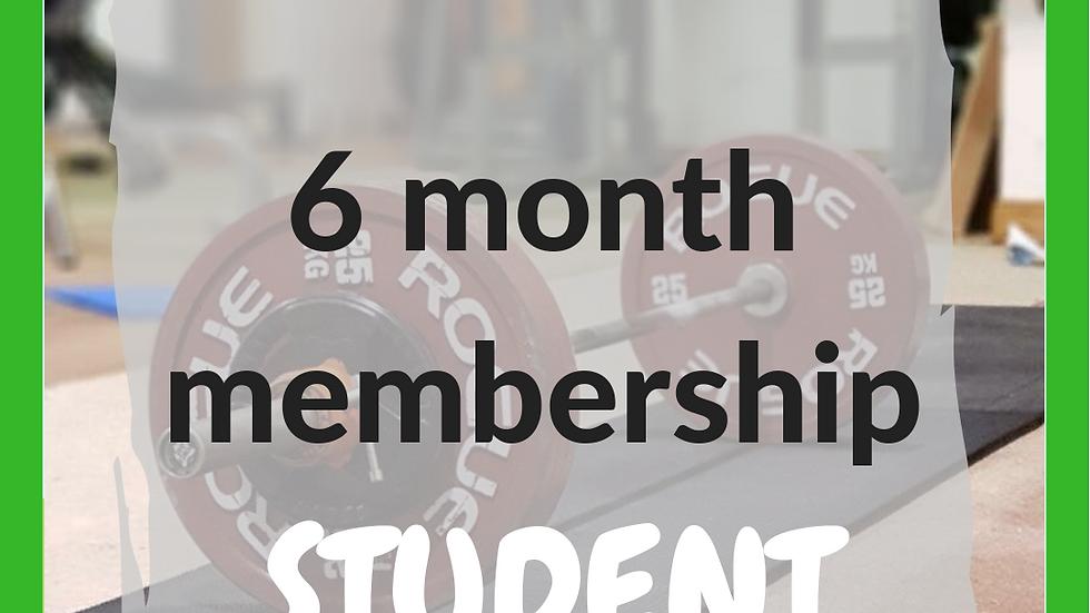 6 months student membership