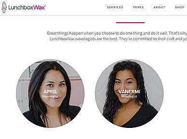 Lunchbox Wax Bar Tampa Website