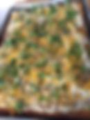 veggie pizza with microgreens