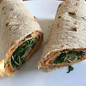 tortilla wraps with microgreens