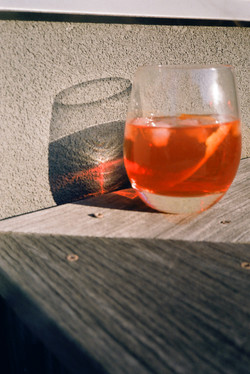 Aperol Spritz, cause it's warm outside