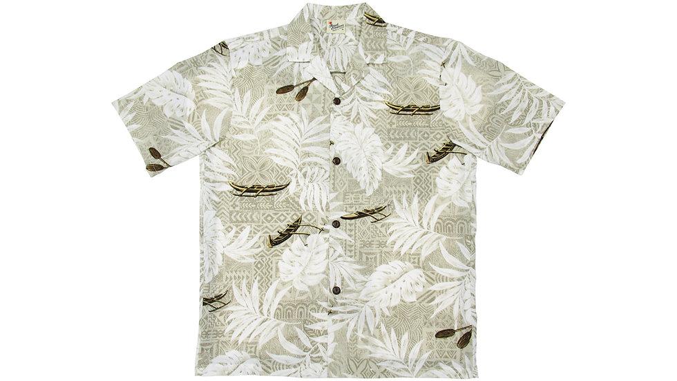 Poly-Cotton Beige Aloha Shirt [T-05]