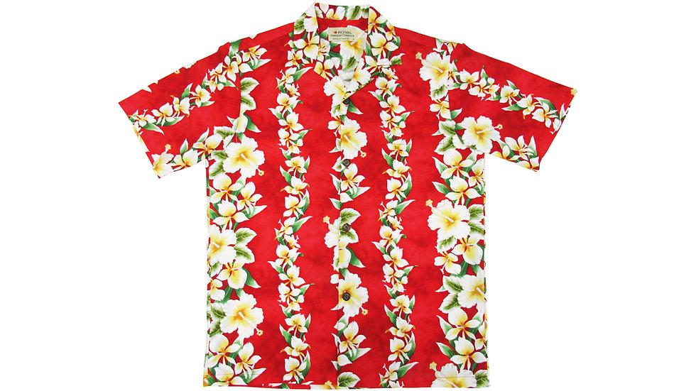 Cotton 100% Red Aloha Shirt [CH-04]