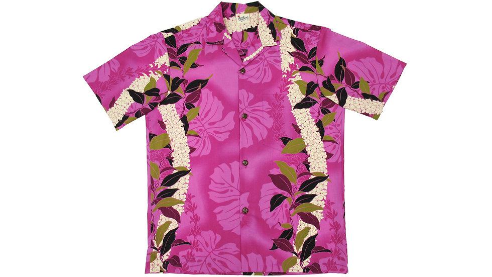 Poly-Cotton Pink Aloha Shirt [T-03]