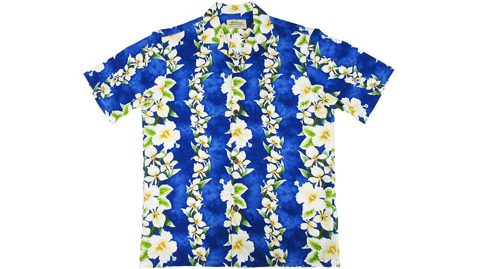Cotton 100% Blue Aloha Shirt [CH-04]