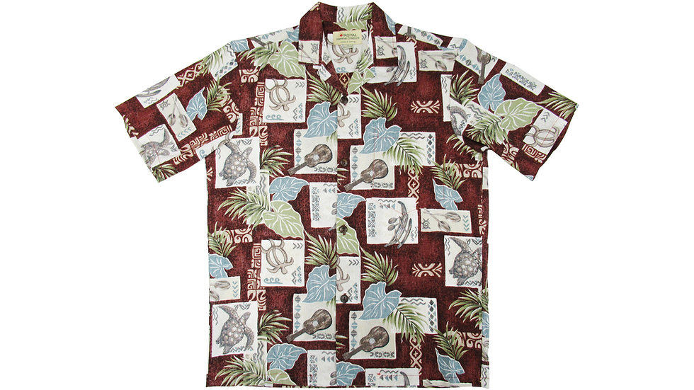Cotton 100% Red Aloha Shirt [CH-08]