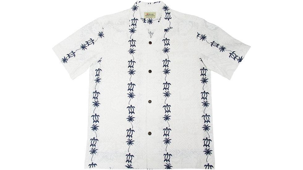 Cotton 100% Blue Honu Aloha Shirt [CH-06]