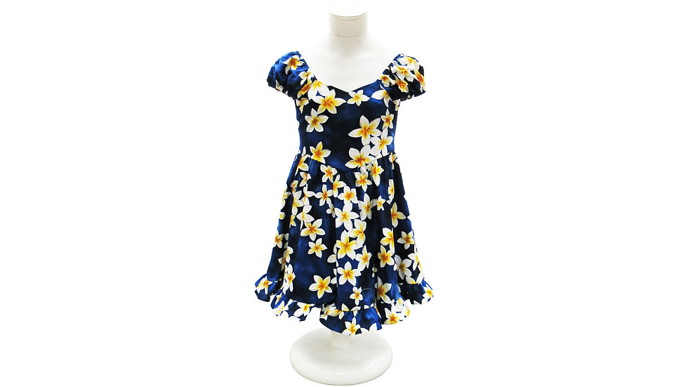 Cotton 100% Girl's Plumeria Sundress [#40406]