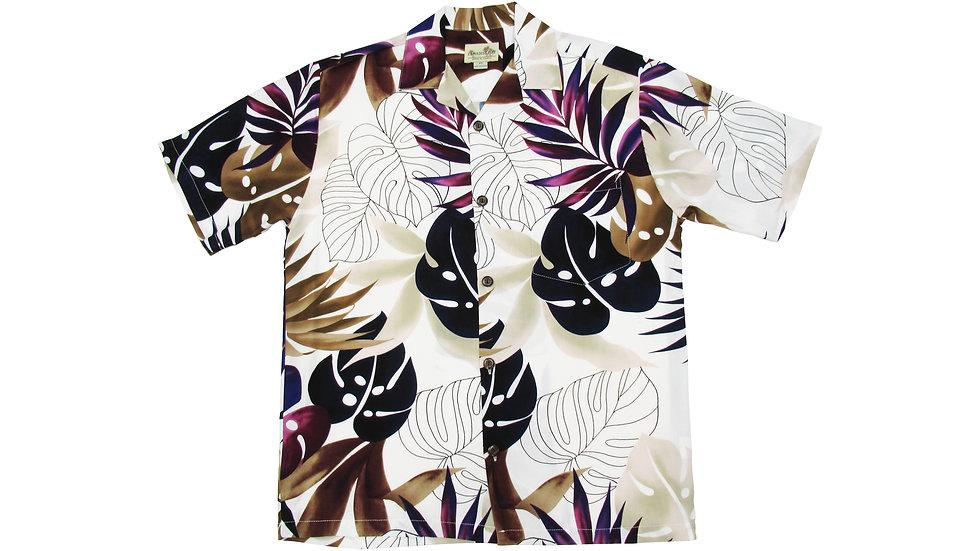 Rayon 100% Beige Aloha Shirt [RH-06]