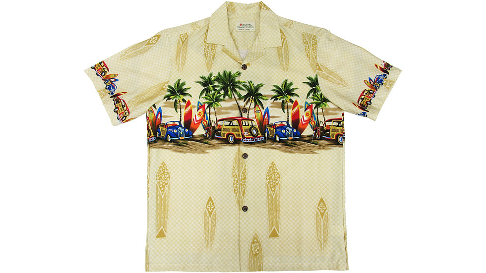 Cotton 100% Yellow Aloha Shirt [CH-12]