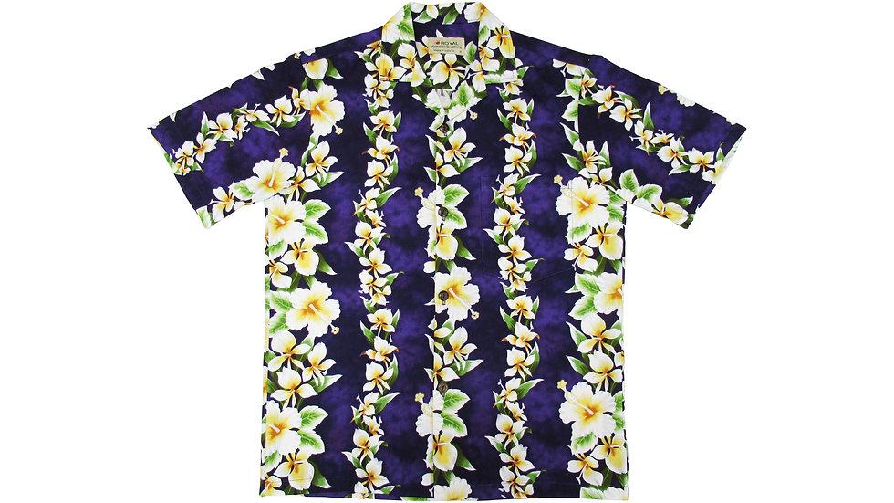 Cotton 100% Purple Aloha Shirt [CH-04]