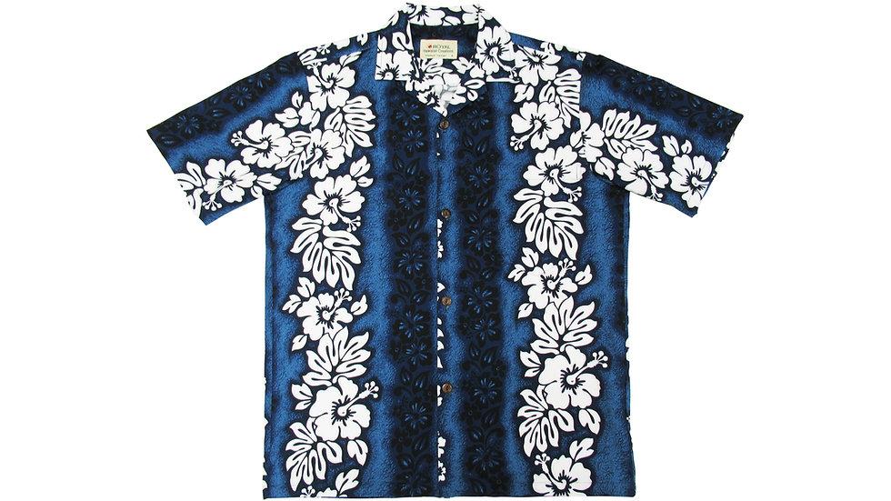 Cotton 100% Blue Hibiscus Aloha Shirt [CH-02]
