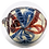 Thumbnail: Red and Blue Designed Glass Bowl